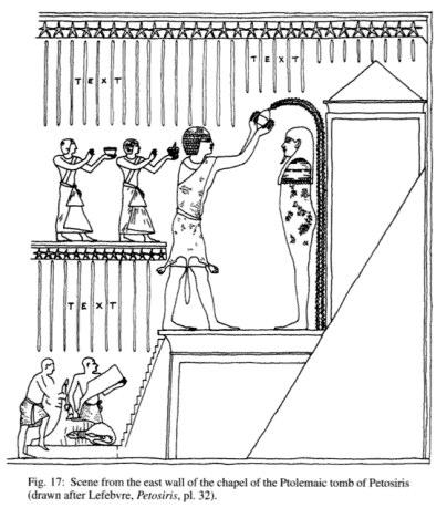 Схема барельефа из гробницы